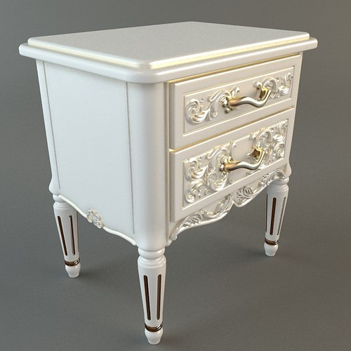 Nightstand with Drawers3D model
