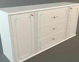 White Credenza Cabinet 3D Model