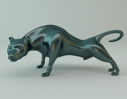 Puma Sculpture 3D Model