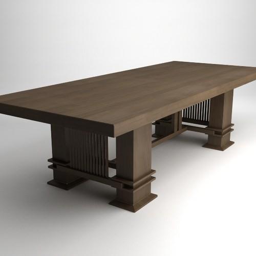 Frank Lloyd Wright Husser Table3D model