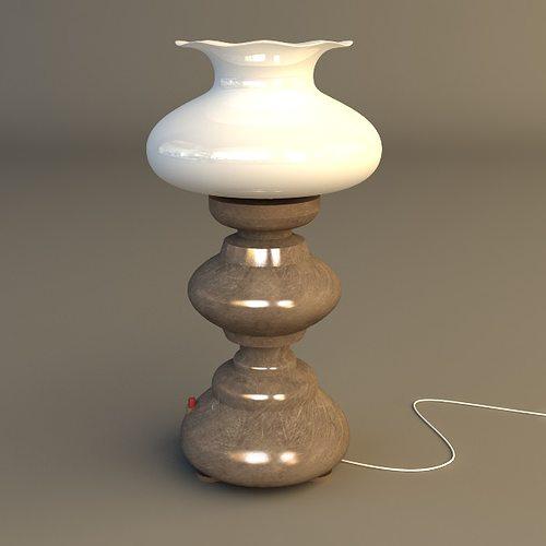 table lamp 3d model max obj mtl 3ds fbx 1