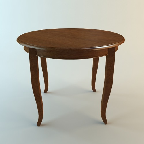 Wooden Round Table3D model