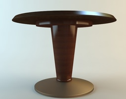 Round Pedestal Table 3D Model