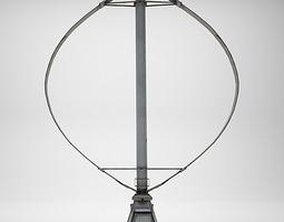 Darrieus Wind Turbine 3D model