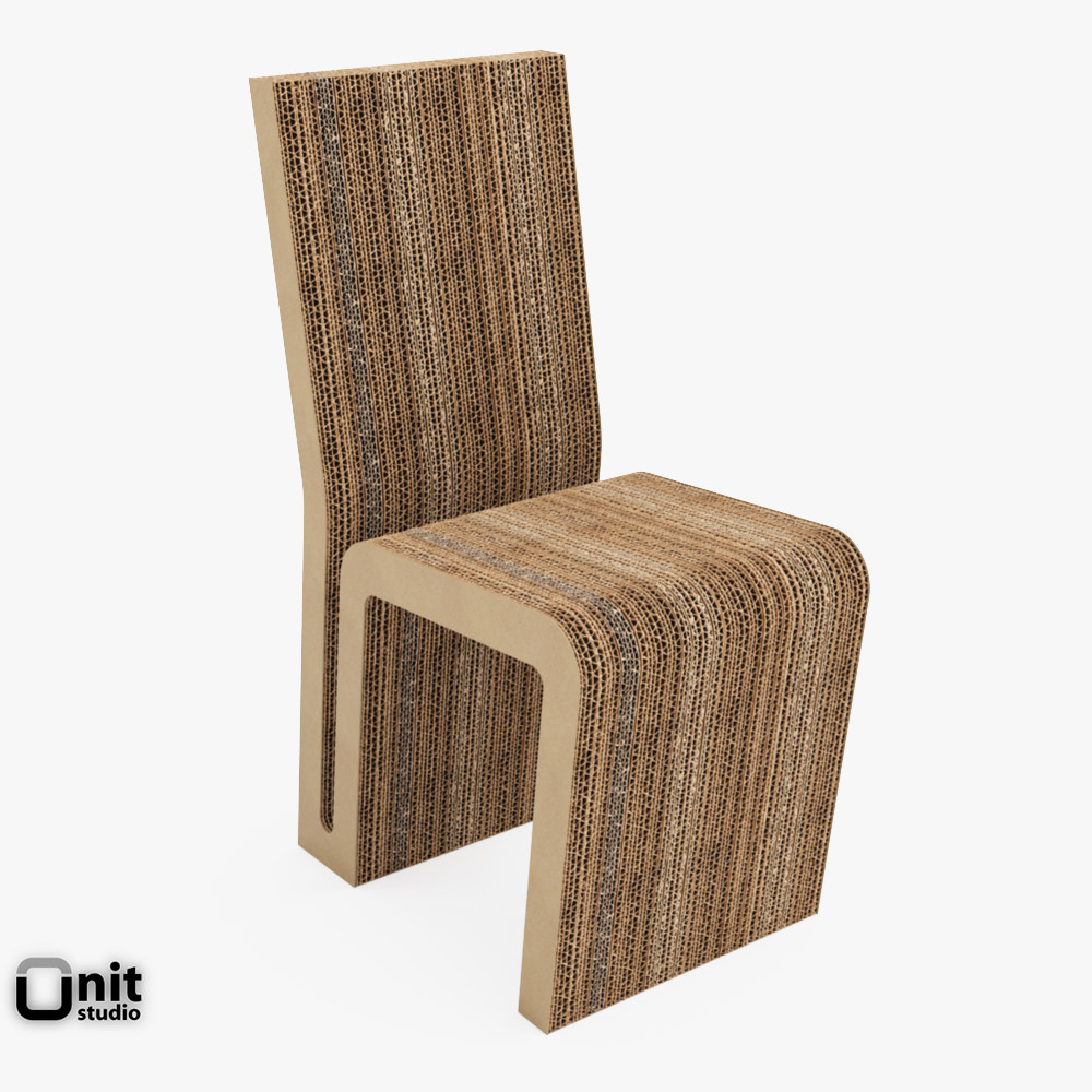 Wiggle And Side Chair By Frank O Gehry 3d Model Max Obj 3ds Fbx Dwg