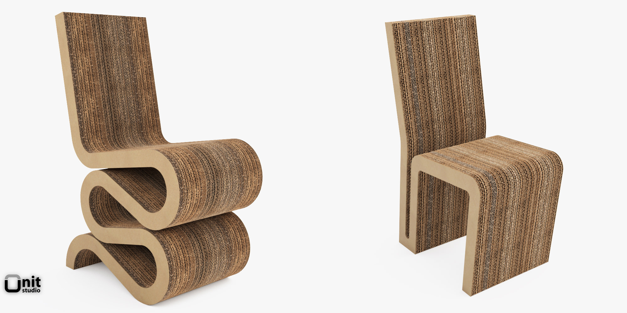 Wiggle And Side Chair By Frank O Gehry 3D Model max obj