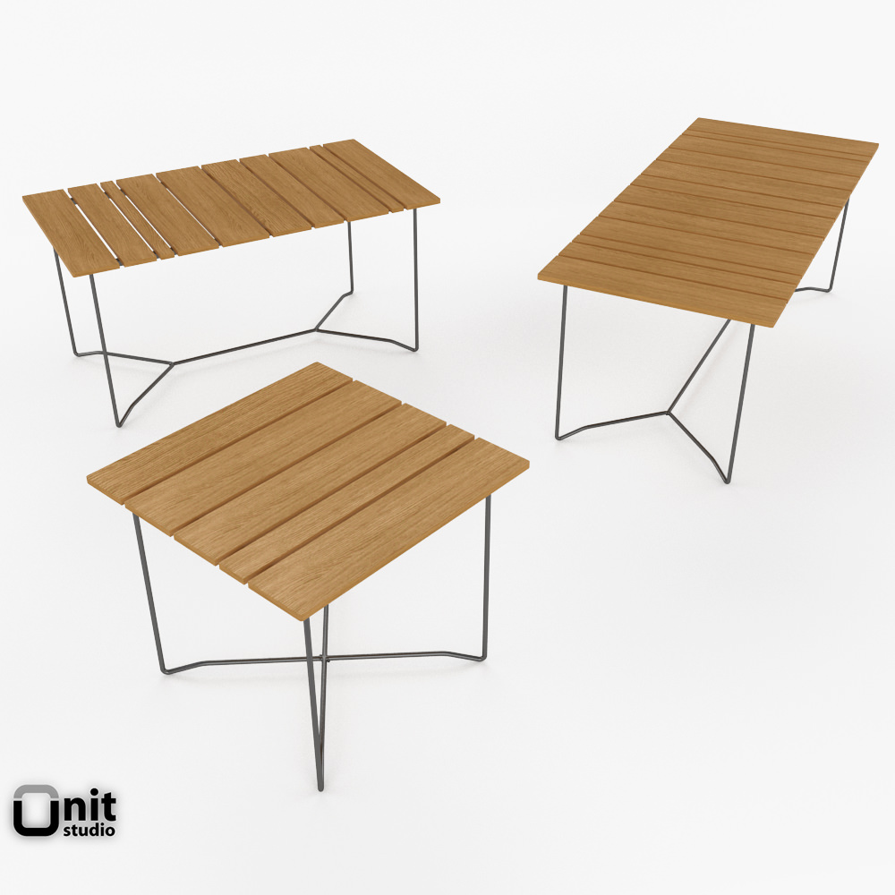 Skargaarden Outdoor Table And Chair 3D Model MAX OBJ 3DS