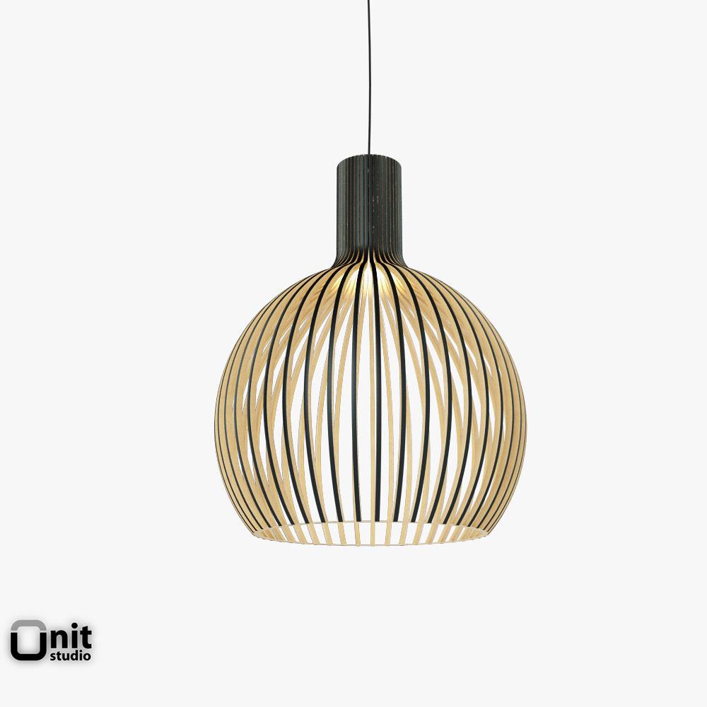 Octo 4240 pendant light Secto design 3D Model .max .obj .3ds .fbx .dwg ...