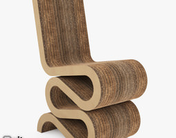 3D model Easy edge Wiggle Side Chair by Vitra