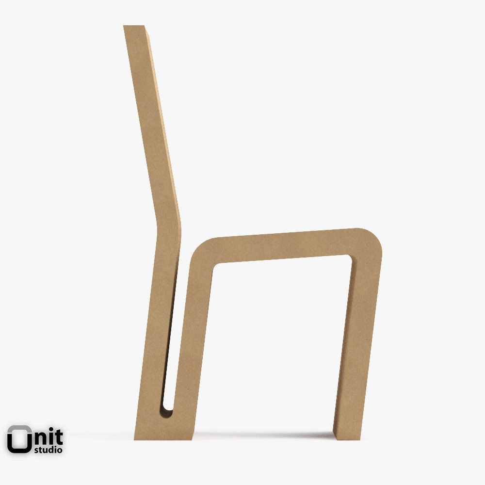 ... Vitra Easy Edge Side Chair By Frank O Gehry 3d Model Max Obj 3ds Fbx  Dwg ...