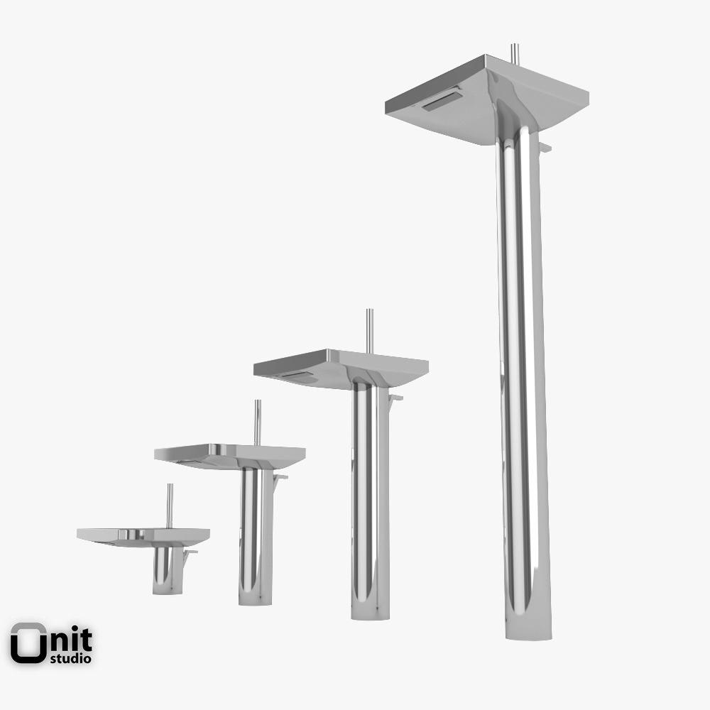 hansgrohe axor starck x washbasin tap 3d model max obj 3ds fbx dwg. Black Bedroom Furniture Sets. Home Design Ideas