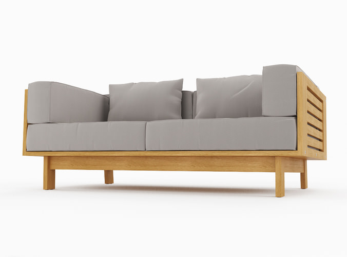 skargaarden falsterbo outdoor sofa 3d model max 3ds fbx