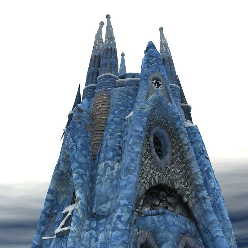 Ice castle 3d model obj cgtrader com