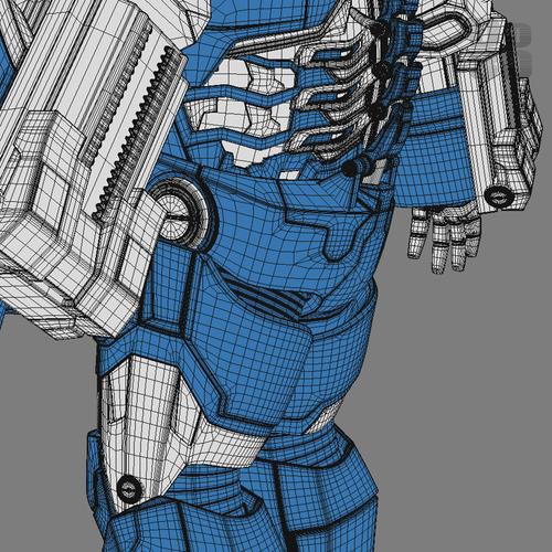Iron man 3 suits mark 42 patriot mark 38 3d model