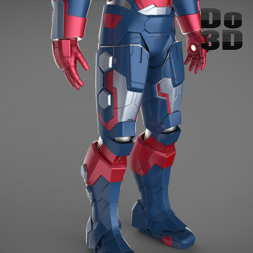Iron man 3 suits mark 42 patriot mark 38 3d model