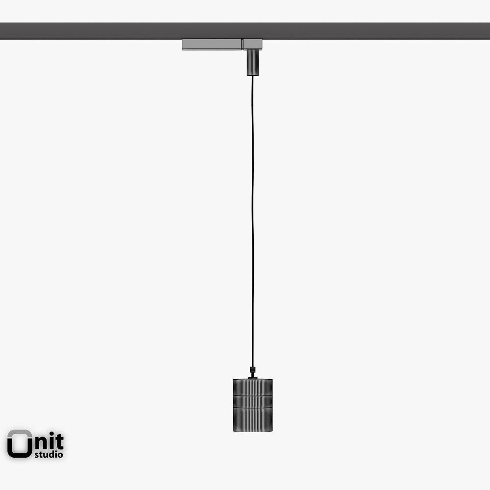 Zumtobel Vivo P L Pendant Spotlight 3D Model MAX OBJ 3DS