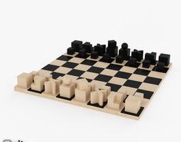 3D model Chess game Bauhaus Schachfiguren