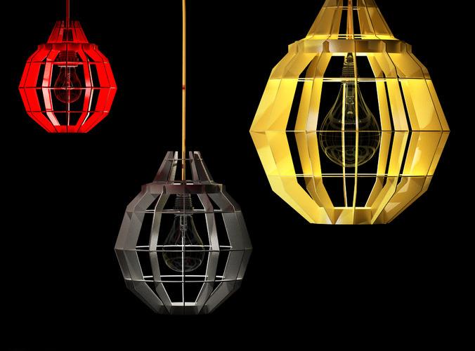 Cage Pendant Lamps by Dare Studio3D model