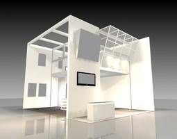 exhibit booth 002 3d