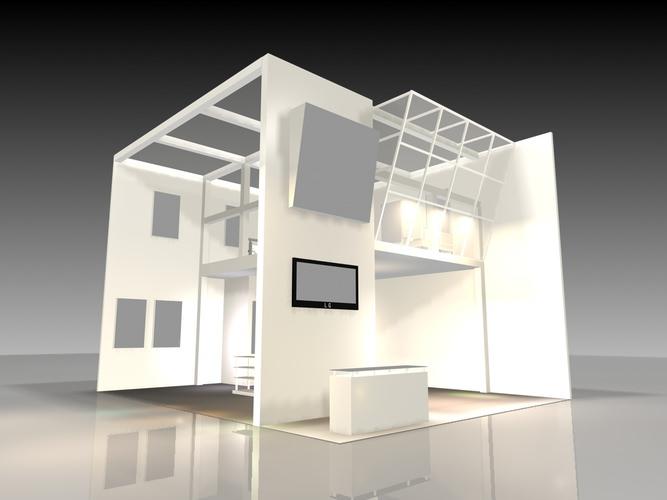 Exhibit Booth 0023D model