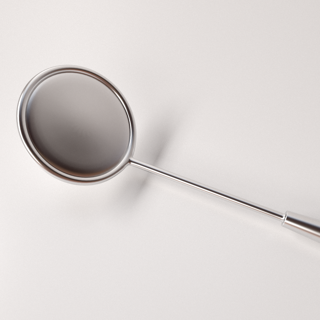 Dental mirror 3d model 3ds fbx blend dae for Mirror 3d model