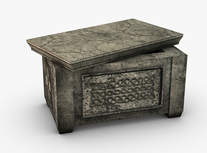 Ancient Stone Ark Storage Box 3d Model Game Ready Max
