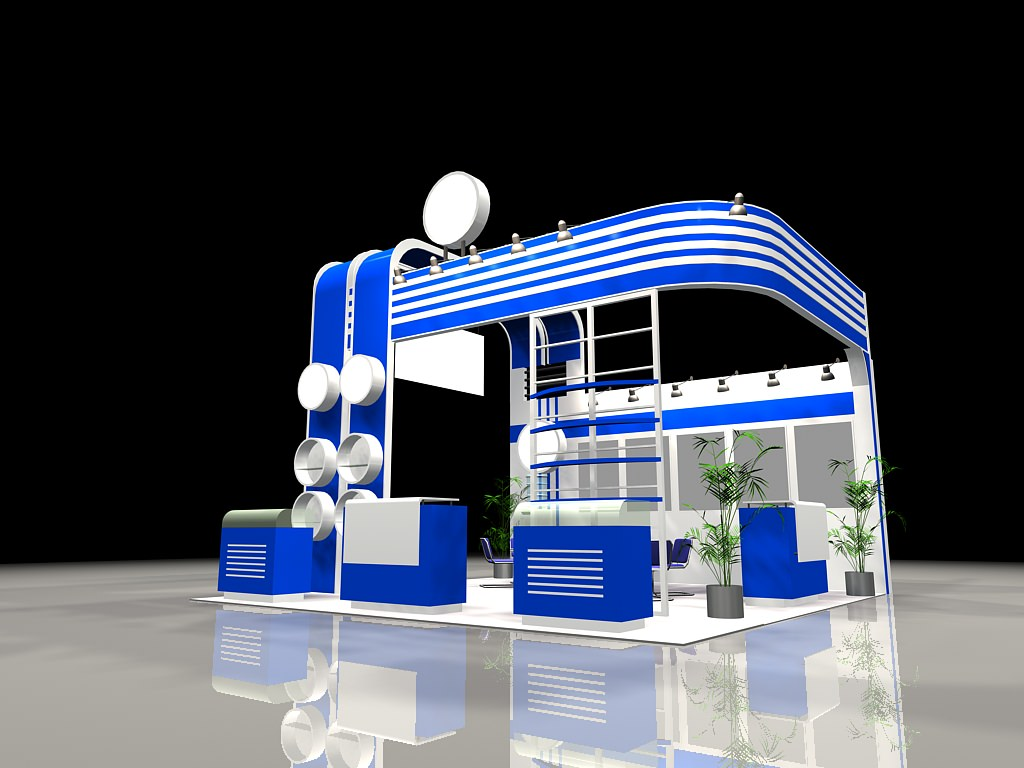 3d Exhibition Stand Design Software : Exhibit booth d model max cgtrader