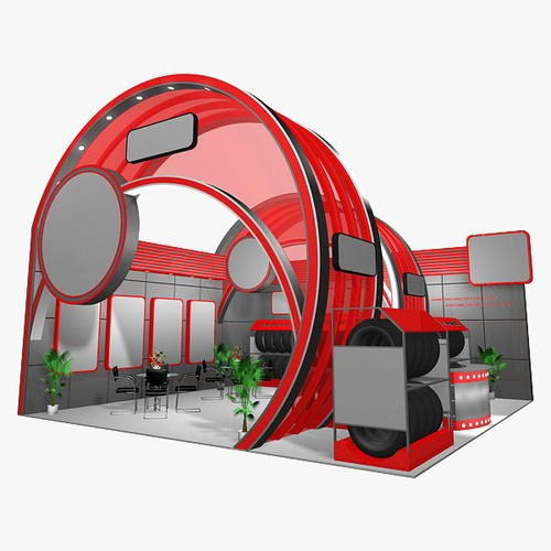 Exhibition Stand Sketchup : D panel exhibition stand cgtrader