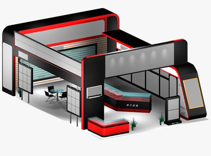 Exhibition Stand 3d Max : Commercial exhibition stand d cgtrader
