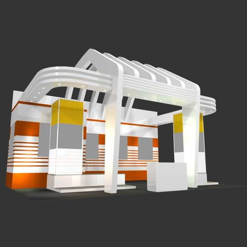 Free 3d Exhibition Stand Design : D model business exhibition stand cgtrader