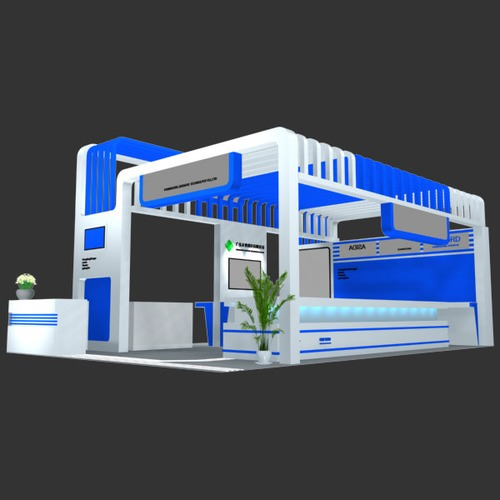 Free 3d Exhibition Stand Design : Exhibition stand d model max obj ds fbx cgtrader