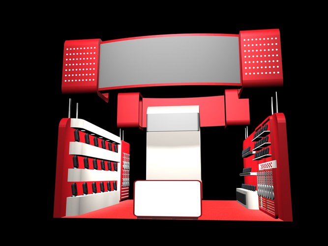Exhibition Stand Design 3d Max : D interior exhibition stand cgtrader