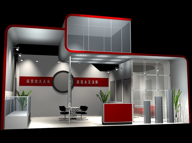Free 3d Exhibition Stand Design : Exhibition stand d model max obj cgtrader