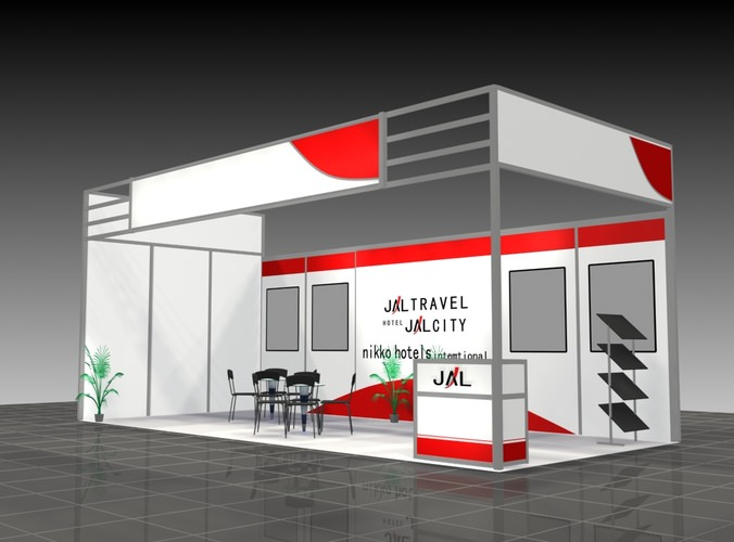 D Model Of Exhibition : Exhibition stand d panel cgtrader