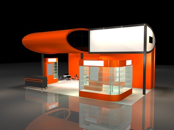Exhibition Booth Obj : Show d model exhibition stand cgtrader