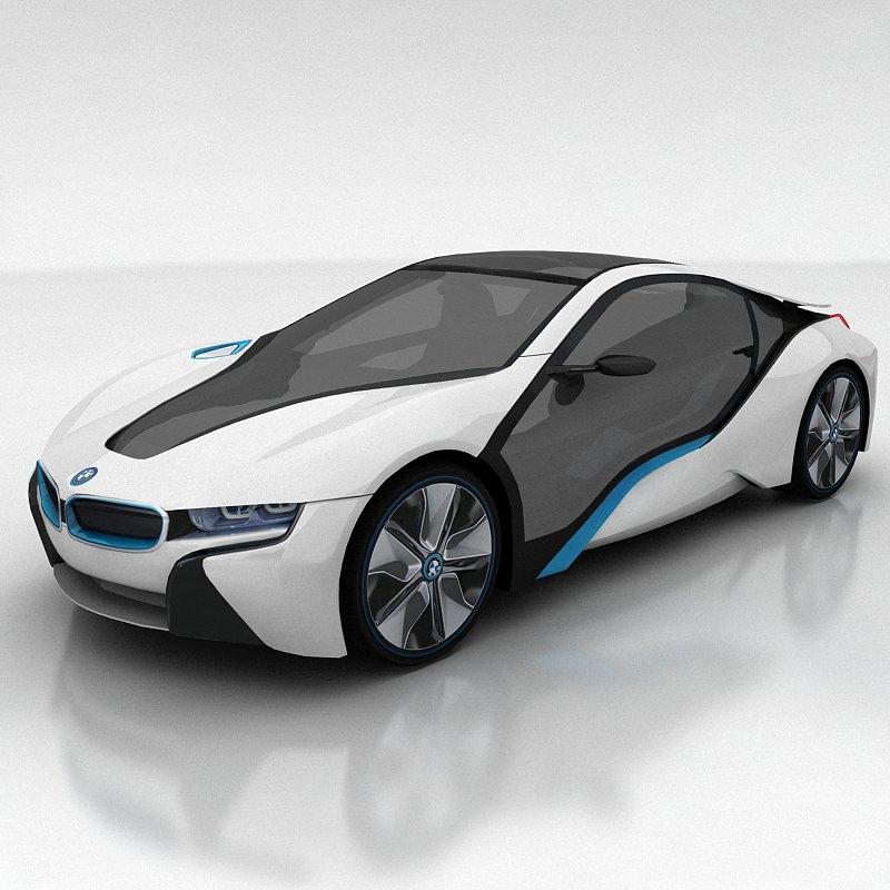 BMW I8 Concept 3D Model MAX FBX