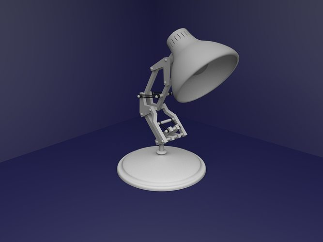 lampara de pixar projecto para blender 3d model rigged obj mtl 1
