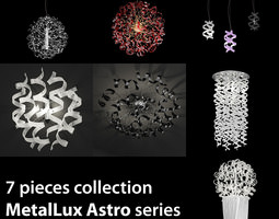 gold 3D Collection 7 lights Astro MetalLux