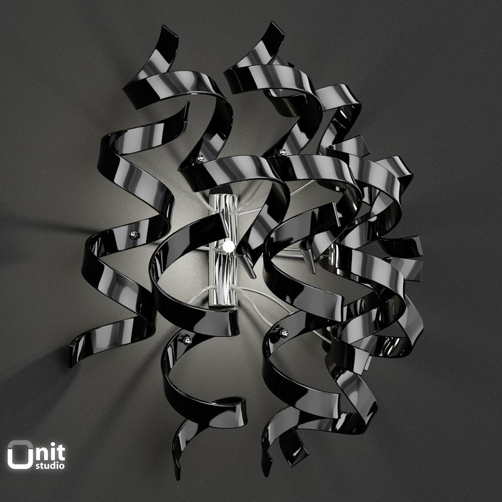 Wall Light Astro MetalLux 9 Pieces 3D Model MAX OBJ 3DS