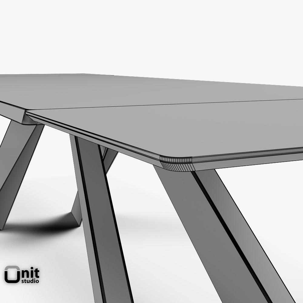Big Table Bonaldo extendable | 3D model