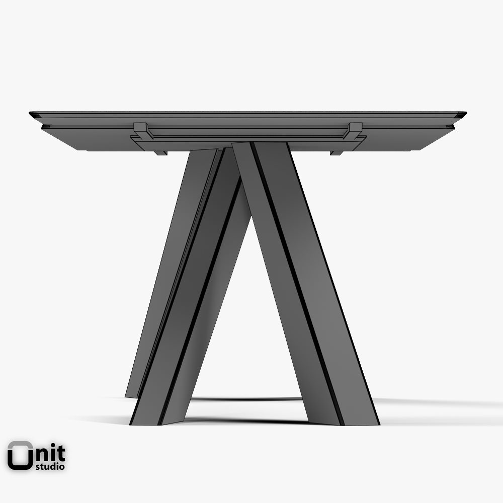 big table bonaldo extendable 3d model max obj 3ds fbx dwg. Black Bedroom Furniture Sets. Home Design Ideas