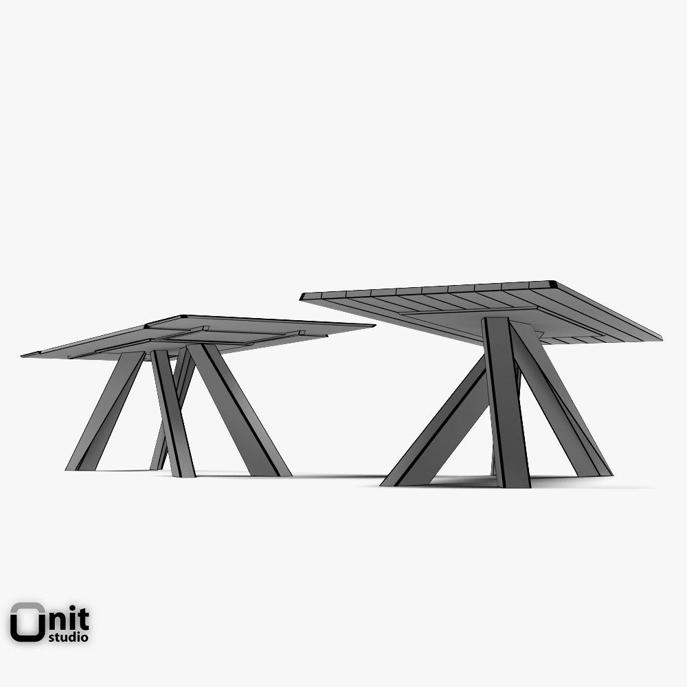 Big Table Bonaldo Extendable 3d Model Max Obj 3ds Fbx Dwg