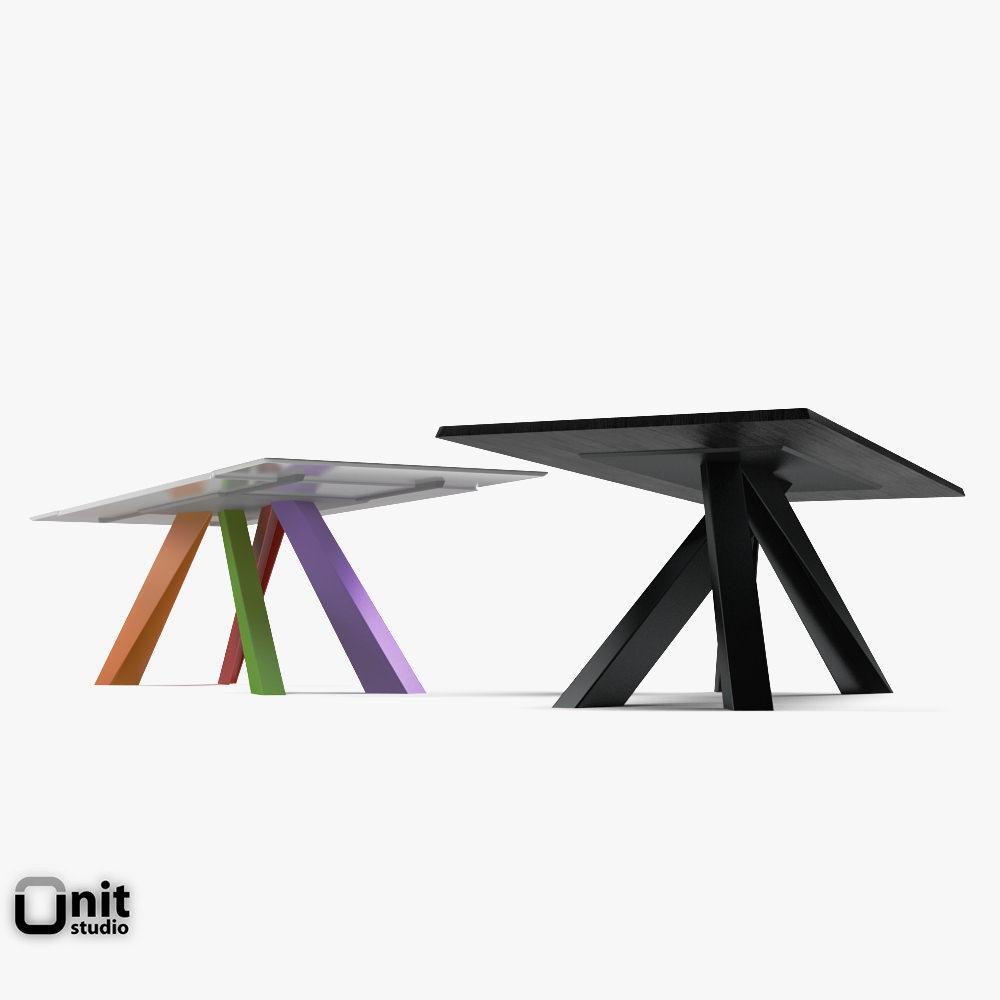 Big Table Bonaldo Extendable 3d Model Max Obj 3ds Fbx