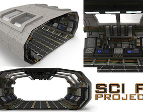 Sci Fi Corridor BIG 3D asset