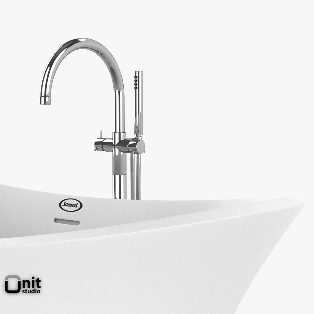 Jacuzzi Infinito Bathtub With Floor Standi 3d Model Max Obj 3ds Fbx Dwg