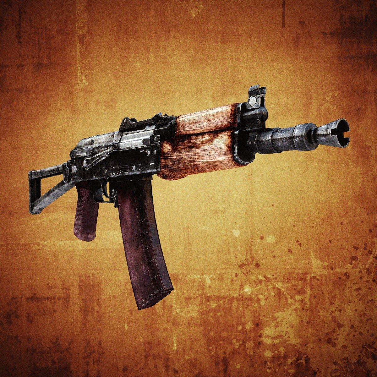 AKS-74U Assault Rifle 3D Model Game ready .max .obj .fbx