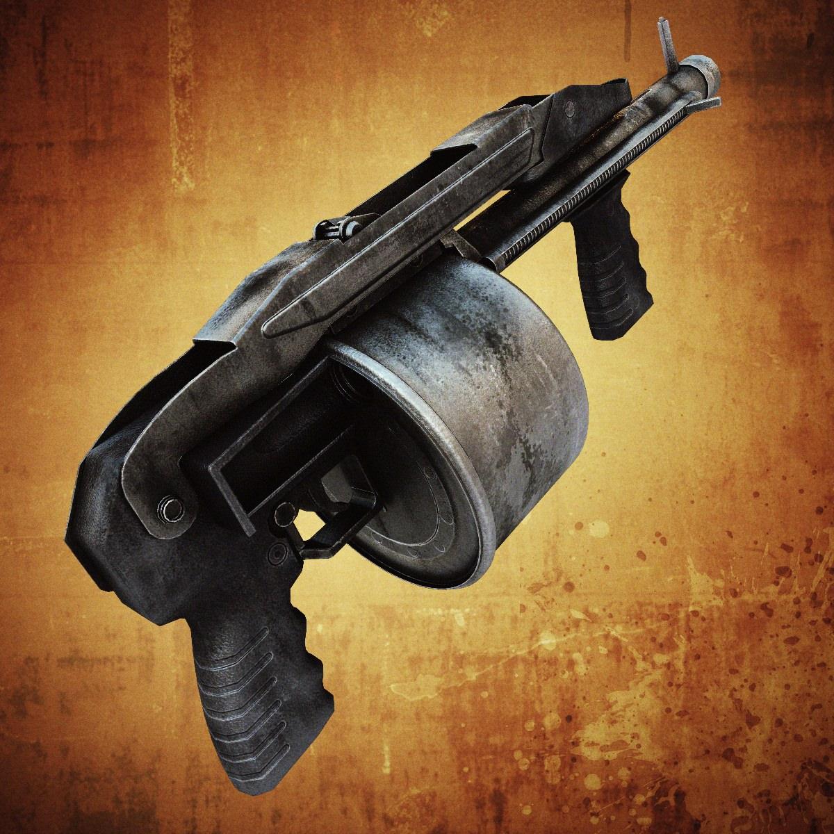 Striker Shotgun 3d Model Game Ready Max Obj Fbx Lwo