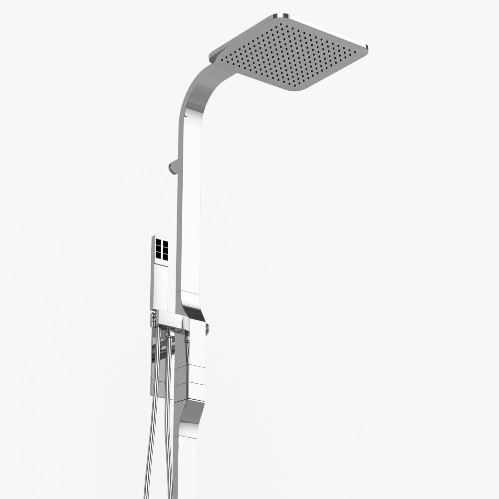 Shower Model shower column zazzeri rem 3d model max obj 3ds fbx dwg