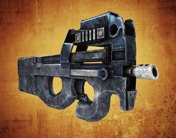 FN P90 SMG 3D Model
