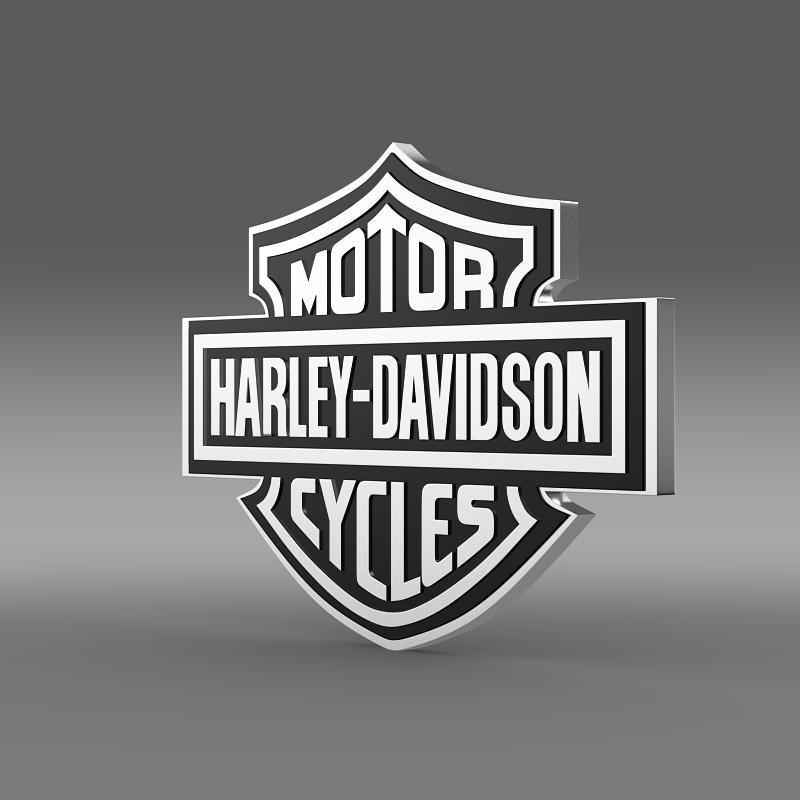 Harley-Davidson Logo 3D Model .max .obj .3ds .fbx .c4d ...